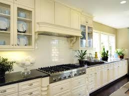 Kitchen:Captivating Kitchen Design Wth White Subway Tile Backsplash And  Long White Kitchen Cabinet Ideas
