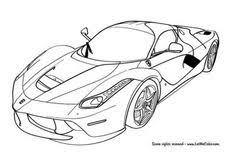 Ferrari Laferrari Coloring Pages Elegant How To Draw A Race Car