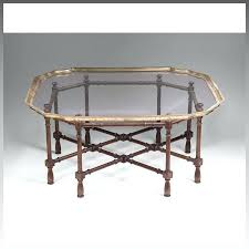 faux bamboo coffee table vintage baker furniture