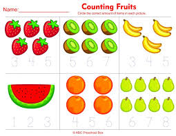 Math Worksheets For Prek Preschool Counting To Kindergarten ...