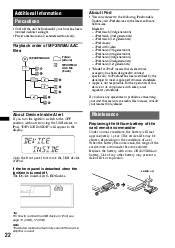 sony dsx ms60 powers off operating instructions