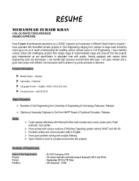 Resume Zubair Khan Civil Qc Inspector