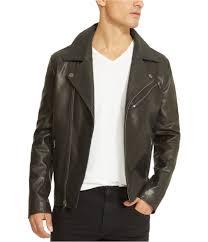 kenneth cole mens leather motorcycle jacket