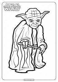 Star wars yoda card craft for kids. Printable Star Wars Yoda Coloring Pages Book