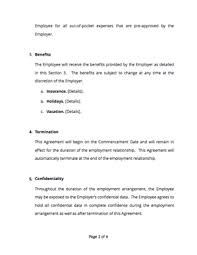 Employment bond is an agreement or a contract between employee and employer. Employment Contract Free Sample Docsketch