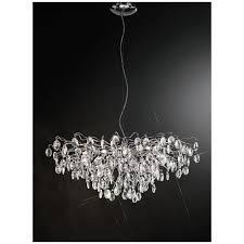 wisteria impressive crystal ceiling pendant light in chrome finish fl2326 15
