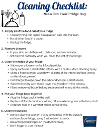 cleaning checklist printable cleaning checklist clean out your fridge day superior