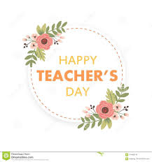 Invitation Card Design For Teachers Day Happy Teacher S Day Layout Design With Flower Card Stock