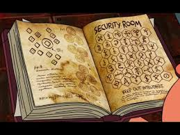 gravity falls book 3 tutorial security room page