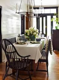 black adds sophistication to this country dining area decorating with black home decor in black country living
