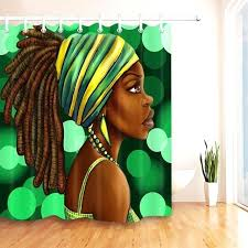 black girl shower curtain woman shower curtain hairstyle black girl bathroom waterproof polyester fabric for bathtub black girl shower curtain