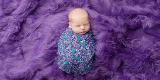 Purple Fur Rug Kingston Ontario Newborn Photographer Kingston