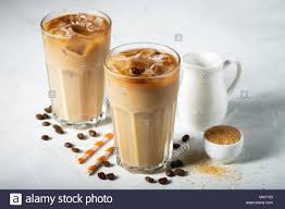 Iced Coffee In A Glass Stock Photos Iced Coffee In A Glass