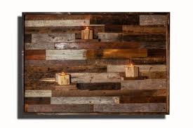 wood wall art with floating wood