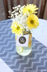 Baby Shower Centerpieces 31 Baby Shower Decorating Ideas With Gray Yellow Theme