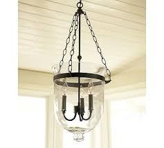 hand blown glass lighting fixtures. Hundi Handblown Glass 3-light Lantern, Bronze Finish Hand Blown Lighting Fixtures