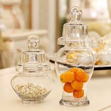 Decorative Clear Glass Jars With Lids Inexpensive decoration clear glass candy jars with lid View glass 87