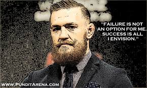 Conor Mcgregor Hd Wallpaper Quotes McGregor Doesn't See Failure As An Option Quotes Saying Pinterest 18