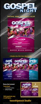 gospel flyer by adoralia graphicriver gospel flyer church flyers