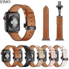 eimo strap for apple watch band 42mm 44mm hermes iwatch series 4 3 2 1 38mm 40mm genuine leather bracelet wrist belt watchband malaysia