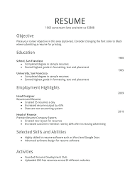 Simple Resume Examples Enchanting Resume Template For A Highschool Student Resume Template Samples