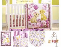 lion king simba nala baby girl crib nursery bedding set pers