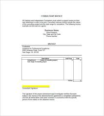 Invoice Format For Consultancy 4 Consultant Consulting Invoice