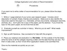 6 Sample letter of re mendation for college applicants 300x229