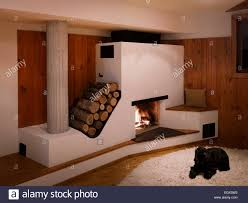 Uk Living Room Fireplace With Log Storage In Wood Panelled Living Room Uk Home