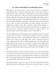global media and global public sphere public sphere mass media