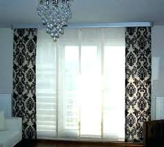 sliding door curtain ideas modern glass curtains blinds for doors in living room