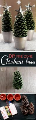 star topped pinecones in silver planters groupings of these diy pinecone