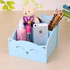 diy office supplies. Blue DIY Cute PVC Cat Desktop Organizer Home/Office Supplies Storage Holder Decor For Pen/Pencil/Glasses/Cosmetics/ Stationery-in Stationery From Diy Office