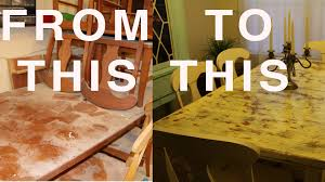 rustic look furniture. DIY How To Distress Wood Furniture Rustic Antique Old Look Refinished Vintage Table Chairs - YouTube E