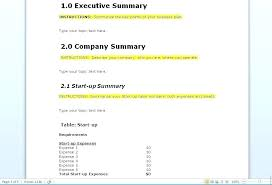 Basic Business Plan Outline Simple Template Free Case Uk Nhs