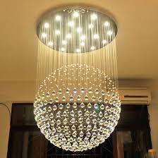 led chandelier lights. Popular Single Ball Crystal Pendant Light LED Chandeliers For Living Room Decoration 6002-13 Led Chandelier Lights E