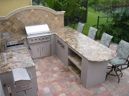 Outdoor Kitchen Gas Grill Exquisite Outdoor Kitchen Grill Island And Bar Design Features