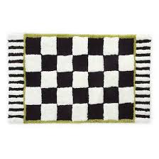 details about mackenzie childs courtly check bath rug standard 347 040