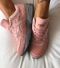 puma pink shoes. shoes: sneakers, puma pink, grey, puma, gym, pink suede low top sneakers - wheretoget shoes