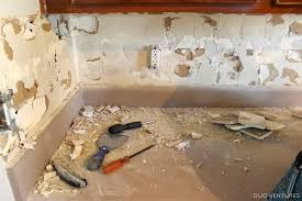 Interior and Exterior:Removing Tile Backsplash From Plaster 2 remove tile  from wall