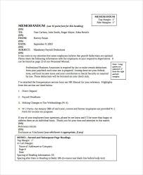 Business Memo Format - 18+ Free Sample, Example, Format | Free ...