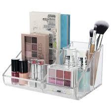 us acrylic makeup organizers cosmetic storage vanity palette topper brush holder