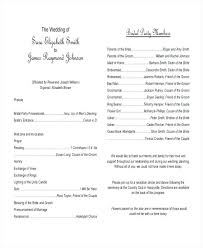 Sample Wedding Program Template Reception Microsoft Word