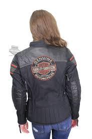 harley davidson womens worden trademark b s triple vent system black leather jacket