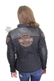 harley davidson womens worden trademark b s triple vent system black leather jacket