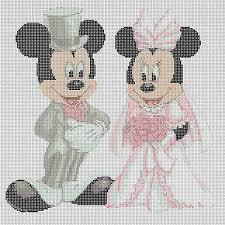 Free Disney Cross Stitch Charts Disney Cross Stitch Chart Mickey Mouse And Minnies Wedding