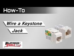 platinum tools® products structured wiring keystone jacks how to wire a keystone jack
