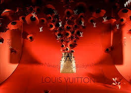 louis vuitton window display. louis vuitton window display with flowers o