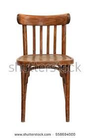 wooden chair. front view of old wooden chair isolated on white