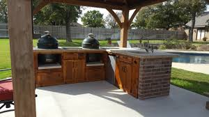charming big green egg outdoor kitchen ideas top built outdoor kitchens and with stainless steel refrigerator grill